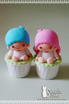 Little twins star 3D cupcake  http://www.facebook.com/SweetieNeko