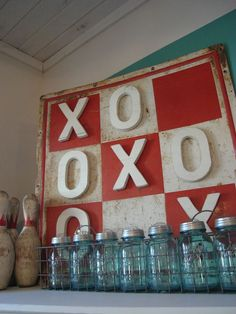 game rooms, canning jars, game room decor, game night, hangout room, bowling pins, game boards, craft ideas, family games