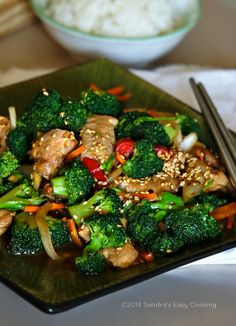 {China} Chinese Broccoli and Pork Tenderloin Stir Fry @SECooking | Sandra | Sandra | Sandra | Sandra