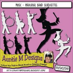 Marching Band Silhouettes {free}
