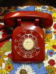 Remember when telephones looked like this?  Maybe black - not red...