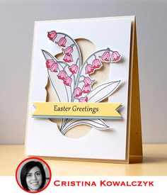 Love how the cutout was used to tuck the Lily of the Valley image inside!