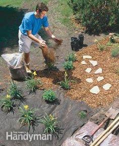 DIY:   Lots of Home Gardening Tips - making  weeding & watering easier & more efficient.