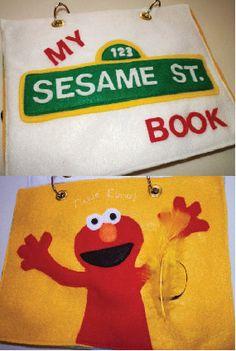 Sesame Street Quiet Book Kit by ItsPersonalPrints on Etsy, $20.00