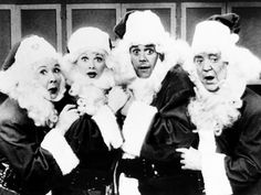 Vivian Vance, Lucille Ball, Desi Arnaz and William Frawley in I Love Lucy (1950s)