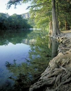 The Frio River runs through Garner State Park in the Texas Hill Country