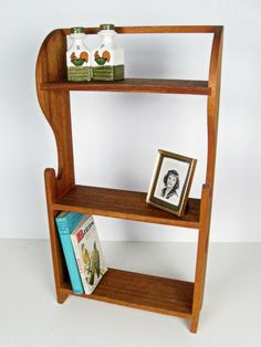 Charming #vintage wooden wall #shelf unit with #heart cut outs - $40.00