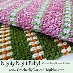 Nighty Night Crochet Pattern Baby Blanket by CrochetByDarleen, $4.50 perfect for boys or girls