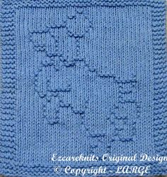 Knitting Cloth Pattern  FRISKY PUPPY  Instant by ezcareknits, $3.00