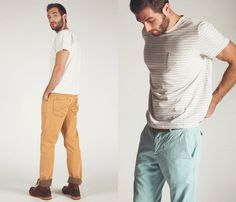 tee & pants - men Sp