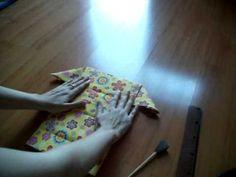 Carteira de origami em tecido - Origami wallet