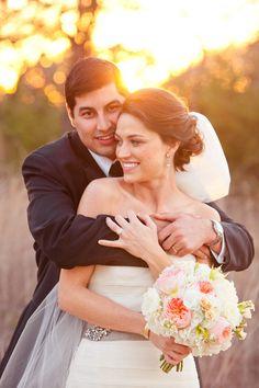 cute bride and groom photo