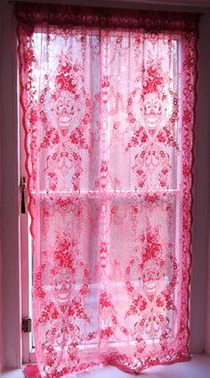 beautiful sheer pink curtain