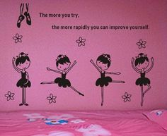 Dancing Ballet Girl Wall Decal Sticker Words Wall Quote for Children Kids Room Dancing Room Free Shipping on AliExpress.com. $8.23