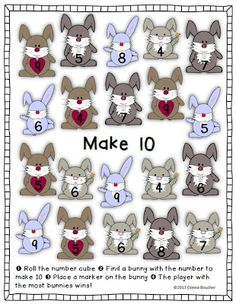 """Math Coach's Corner: Making Ten Game. This activity is another engaging way for kiddos to practice combinations for 10.  This is such a critical skill that I""""m always looking for new ways to practice it, and this is an easy little workstation activity.  Consider putting ten-frames in the workstation to provide additional support."""