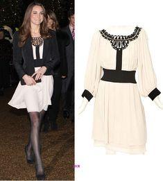 Kate Middleton Temperley London Dress Dec. 2010