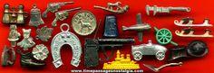 Old Metal Cracker Jack Premium / Prize Toys