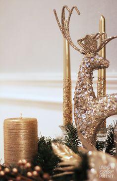 Glitter Reindeer + Candles