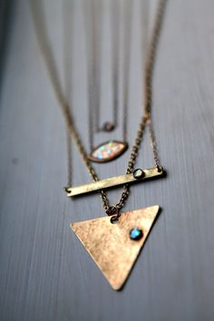 Opal layering necklaces by Blydesign on Etsy, $43.50