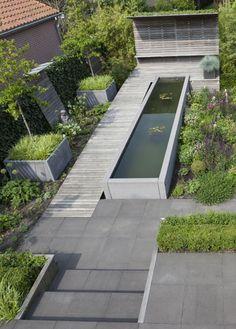 Tuin inspiratie outdoor inspiration on pinterest 98 pins - Bassin tuin ontwerp ...