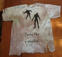 DIY party like a zombie shirts