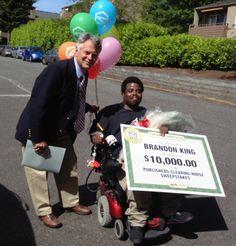PCH Anniversary Prize Winner Brandon King from Shoreline, Washington.  Congratulations!