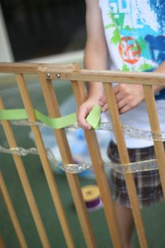 Simple easy way to do weaving with kids