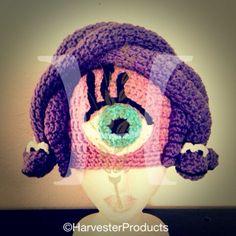 Disney Pixar Monsters, Inc. Celia Mae styled crochet hat by Harvester Products