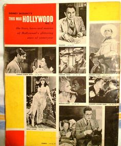 1955 Sidney Skolsky's This Was Hollywood  by YoungsForeverVintage, $6.99