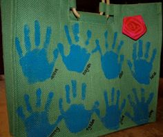 cute hand-stamped tote!