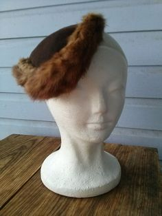 Vintage 1930s Mink Tilt Hat 2014384 by bycinbyhand on Etsy, $75.00