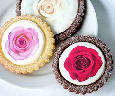 Wedding Cookies, Printed Rose Cookies by Rolling Pin Productions