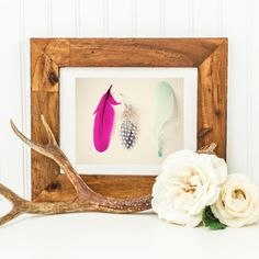 Maybe Sparrow's whimsical neon feathers print. neon feather