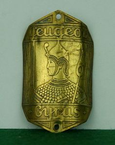 Old Headbadge Peugeot Cyrus Cycle Old Bicycle Badge Plate Emblem Lefol Simplex | eBay