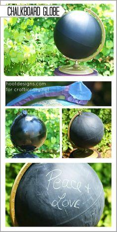 Chalkboard Globe.. So creative!