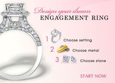 The most unique engagement rings of all are those custom designed and created for the recipient.  #uniqueengagementrings #buildyourownengagementring #customengagementrings