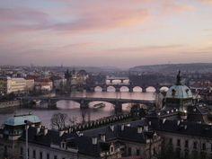 Historic center of Prague.