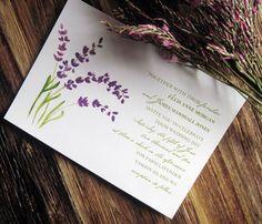 Purple, Green, Wedding, Invitations, Invitation, Shower, Lavender
