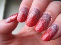 Christmas glitter gradient with China Glaze <3