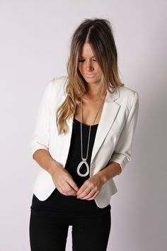 White blazer... on my must-have list. I just have to keep everyone and everything 10 feet away from me for fear that I will run into something/drop stuff on it.