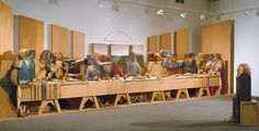 Marisol (Marisol Escobar): Self-Portrait Looking at The Last Supper (1986.430.1-129)   Heilbrunn Timeline of Art History   The Metropolitan Museum of Art