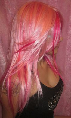 # Pink hair
