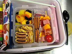 This mom gets mom of the year for her lunches. Lot's of good ideas that I never would have thought of! about 100 pictures of ideas! =)
