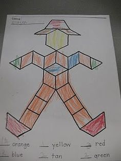 pattern block scarecrow