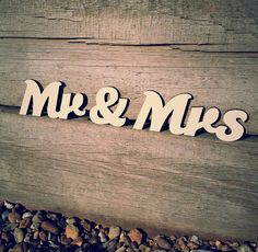 """Wooden """"Mr & Mrs"""" sign for weddings and forever. #weddingmonth #typography"""