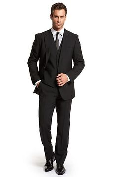 Modern Fit Two Button 'The James/ Sharp' Suit by BOSS Black