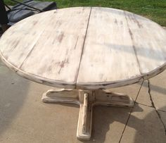 Refinished table, antique white