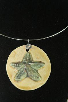Ceramic Jewelry  starfish pendant by kimjustice on Etsy, $18.00