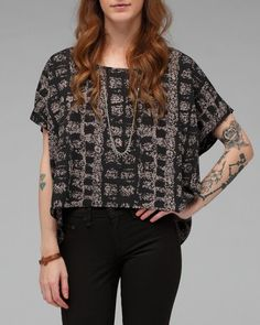 cropped aztec top
