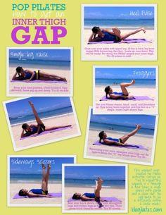 thigh gap, the gap, fit, pop pilates, thigh workouts, inner thigh, thigh exercises, workout exercises, leg workouts